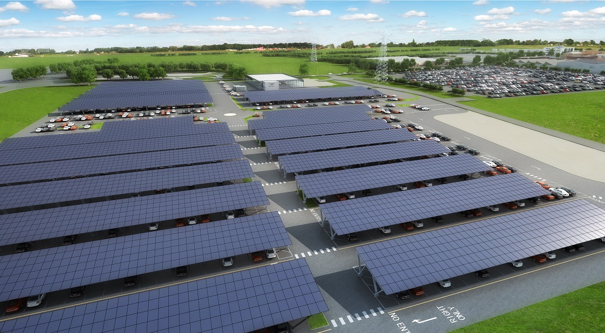 Construction Starts On 2 7mw Bentley Solar Carport Solar