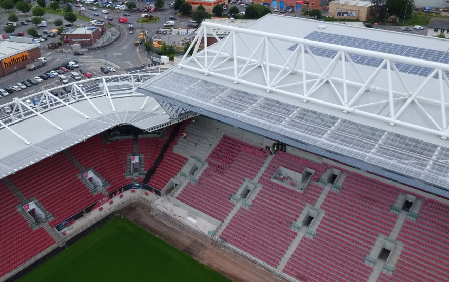 Bristol City Council completes PPA project at local stadium