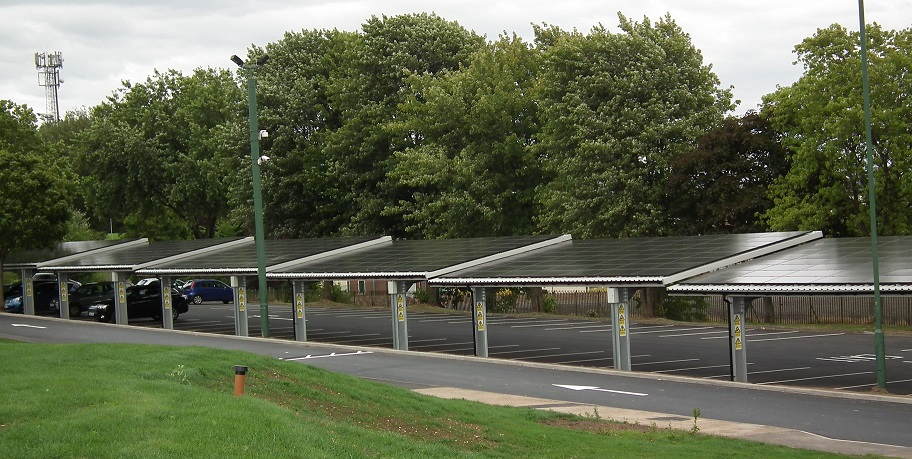 The Solar Cloth Company listed carports as a potentially significant driver for its tensile solar PV product, which it said was in development. Image: TSCC.