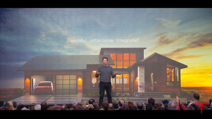 The Tesla solar roof launch.