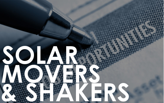 Solar movers and shakers 23 June 2016