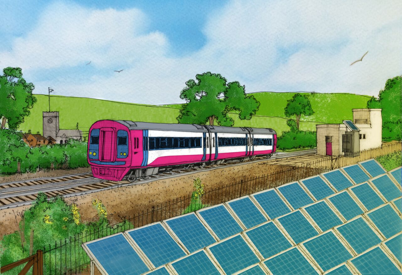 Solar could directly power 10% of UK's electrified train