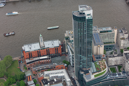 The 26kWp system has been split between the top two floors of the 42 storey South Bank Tower. Image: EvoEnergy.