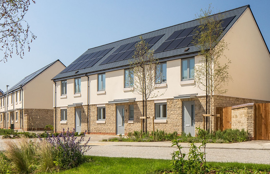 The Complete In-roof Solar system in action at the Elmsbrook housing development in Bicester. Image: HBS New Energies.