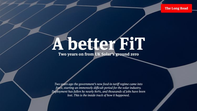 A Better FiT - Two years on from UK Solar's ground zero
