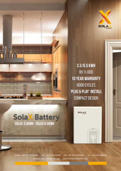 SolaX Power to offer new dual-branded, high-performance battery solution front cover