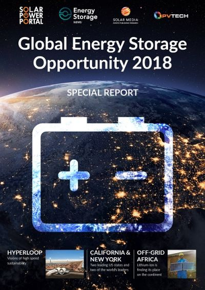 Global Energy Storage Opportunity 2018 front cover