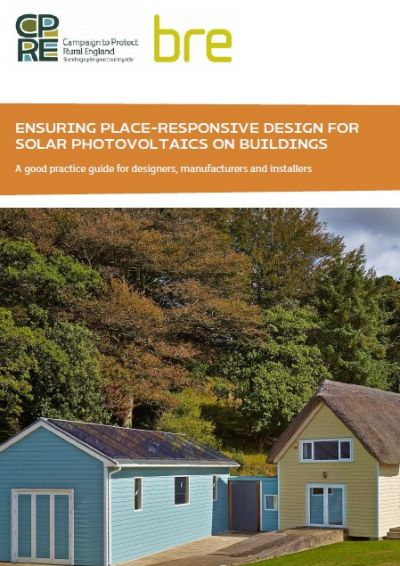 CPRE - BRE: Ensuring Place-Responsive Design for Solar Photovoltaics on Buildings front cover