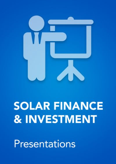 Speaker Presentations for Solar Finance & Investment Europe 2016 front cover
