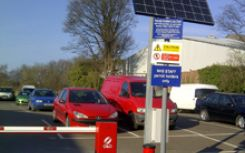 Warwick Hospital installs UK's first solar-powered parking barriers