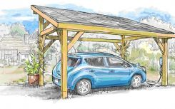 Oak-framed solar carport launches in the UK