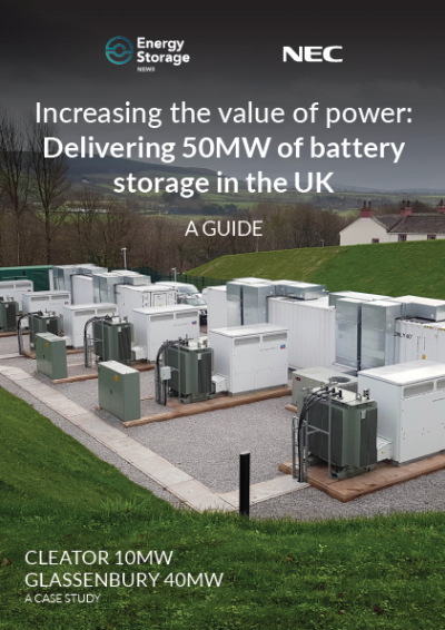 A Guide | Increasing the value of power: Delivering 50MW of battery storage in the UK front cover