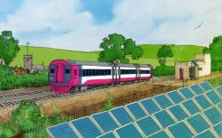 Solar could directly power 10% of UK's electrified train routes, study finds