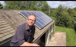 Robert Llewellyn talks solar, batteries, EVs and turning his village green