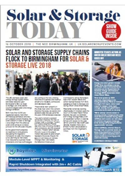 Solar & Storage Live 2018 - Day one front cover