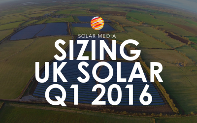 Sizing the UK solar market in Q1 2016
